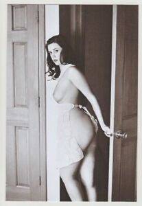Postcard Pinup Risque Nude Stunning Girl Extremely Rare BW Photo Post Card 13621