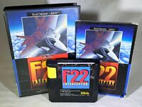 F22 Interceptor (Sega Genesis, 1991) CIB Complete Simulation Jet Fighter FUN!