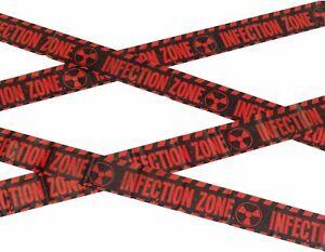 Zombie Infection Zone Tape 6mtr Crime Scene/Halloween/Joke/Police/Barrier Tape