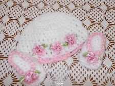 """Handmade 15"""" Doll Clothes for/fits AG Bitty Baby or Twins Doll- Baby Girl  Pink"""