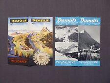 2 Reiseprospekte Damüls im Bregenzer Wald, Vorarlberg, Österreich, um 1950