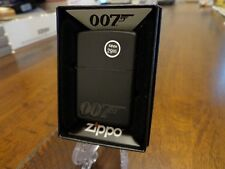 JAMES BOND 007 BLACK MATTE ZIPPO LIGHTER MINT IN BOX