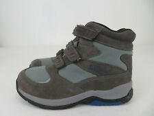 LL Bean Suede Winter 3 Strap Snow Hiking Boots Blue Gray Womens Size 8 Medium