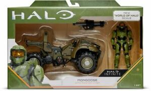 HALO INFINITE 3.75″ FIGURE & LARGE VEHICLE  MASTER CHIEF AND THE MONGOOSE