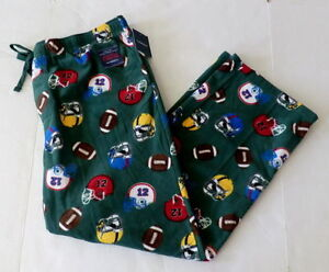 Croft & Barrow Men's Fleece Pants - Football and Helment Print - Size XL - NWT