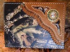 Nocona Western Mens Wallet Bifold Shotgun Shell Concho Mossy Oak Camo N54442222