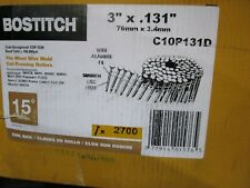 "Bostitch C10P131D Coil Nails 10d, 3 "" Length Plain 2700 / Box"