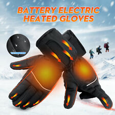1pair Warm Hand Waterproof Touchscreen Battery Electric Heated Gloves Motorcycle