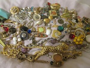 Vintage Estate Jewelry Junk Drawer Lot Craft Harvest