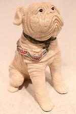 Beautiful Cute Ceramic Wrinkly Dog Jar with Oriental Style Leash