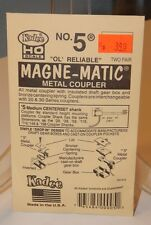 Kadee HO #5 Magne-Matic Metal Coupler 2 pair NEW