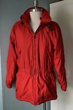 Obermeyer jacket red women S 6 P Excellent Ski Snow Hood Coat