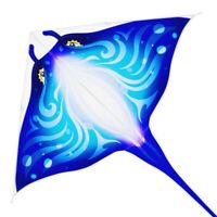 Devil Fish Kite for Kids Adults,Delta Kite Single Line Large, Kite Handle Includ