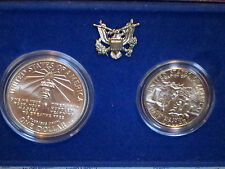 1986 ~ LIBERTY SILVER DOLLAR & HALF DOLLAR / UNITED STATES LIBERTY COINS