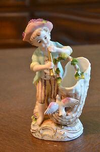 Ceramic Porcelain Bisque Figurine Vase Pottery Art Japan Ardalt C N circle mark