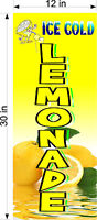 "PAIR OF 12"" X 30""  VINYL BANNERS ICE COLD LEMONADE"