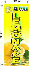 Pair Of 12 X 30 Vinyl Banners Ice Cold Lemonade