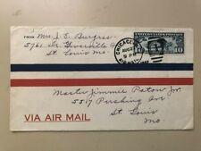 1927 Scott C10 ten-cent Lindbergh airmail on cover