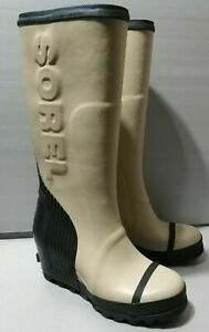 Womens Sorel joan rain wedge tall felt boot.