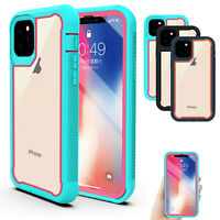 For iPhone 11 Pro Max Heavy Duty Armor Case Dual Layer Shockproof Clear Cover