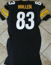 PITTSBURGH STEELERS TEAM ISSUED JERSEY HEATH MILLER 2005 AUTHENTIC GAME JERSEY