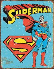 Large Superman Tin Sign Metal Poster Retro Vintage DC Comic Book 40x31cm 1335