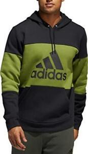 adidas Mens Athletic Post Game Fleece Hoodie S M XL Green Black