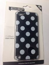 Black with White Polka-Dot Plastic Cover for iPod Touch 5TH & 6TH gen.  NEW
