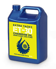 5 litres EXTRA TACKY CHAINSAW OIL Chain Oil Guide Bar Pump for all Saws 100Cst