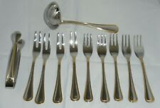 SOLINGEN GERMANY 18/10 GOLD PLATED CUTLERY SMALL FORKS /SUGAR TONGS/ SAUCE LADLE