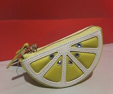 NWT Kate Spade Lime Flights Of Fancy Coin Purse Case, w/key holder lime leather