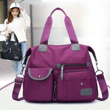 Women Nylon Waterproof Large Capacity Multi Pocket Handbag Crossbody Bag