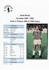 Liam Brady JUVENTUS 1980-1982 mano originale firmato RIVISTA taglio