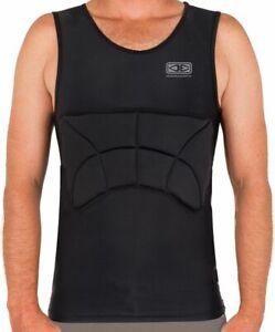Ocean And Earth Mens Black Rib Guard Padded Vest
