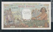 French Somaliland ( Djibouti ) 1938, 1000 Francs, SPECIMEN.