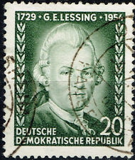 Germany Famous Dramatist Gotthold Lessing stamp 1956