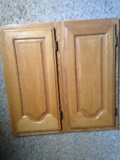 2 Canterbury Solid Oak Cabinet Doors with Frames.  See more info below.