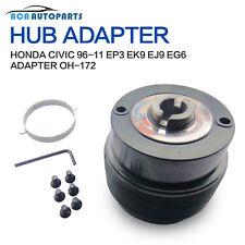 Boss Kit For Honda Civic Integra Del Sol Steering Hub Adapter Snap Off Black