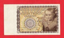 25 Gulden von 1940, Original Banknote in *VF* Erhaltung!