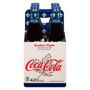 RARE Discontinued Soda Pop Coca Cola Quebec Maple Syrup Flavour Exotic Canada
