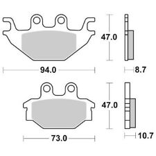 PASTIGLIA FRENO ANT. DX-SX SBS 810SI 08/09 ADLY CROSSROAD SENTINEL QUAD 300 65.6