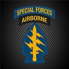 """1 - 8""""x6"""" US Army Airborne Special Forces Patch Vet Decal Sticker Car Window"""