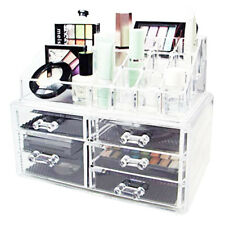 ESPOSITORE TRUCCO ORGANIZER PORTA TRUCCO COSMETICI BOX MAKE UP ROSSETTO