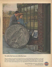 1964 Ad Insured Savings and Loan Life Dollar Thats Buys A Debt Free Home Print