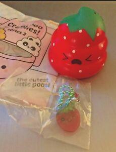 PUNI MARU crazy poo squishy Strawberry RED