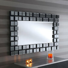 UK Made Large Grey Glass 3d Block Effect Venetian Mirror 4ft10 X 2ft11