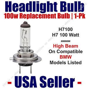 Headlight Bulb High Beam 100 Watt Upgrade 1pk - Fits BMW Models Listed - H7 100