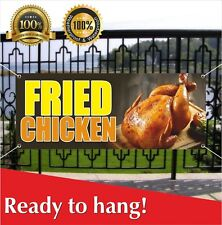 Fried Chicken Banner Vinyl / Mesh Banner Sign Flag Many Size Carnival Fair Food