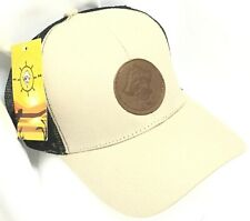 NEW PREPPY PIRATE HAT | Fishing ~ Tan & Black ~ Brown Patch~ Adjustable Snapback