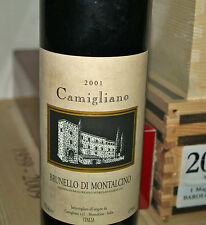 Brunello di Montalcino Castello Camigliano 2001 Bottiglia Vino Rosso DOCG DOC